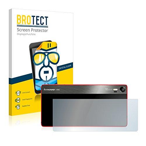 BROTECT Schutzfolie kompatibel mit Lenovo Vibe Shot (Rückseite) (2 Stück) klare Bildschirmschutz-Folie