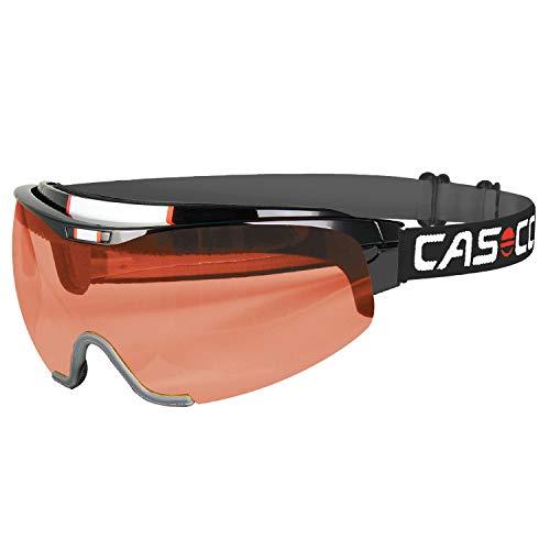 >Casco Spirit Vautron Nordic-Brille Langlauf-Brille Biathlon-Brille mit VAUTRON-Automatikscheibe (schwarz, M)