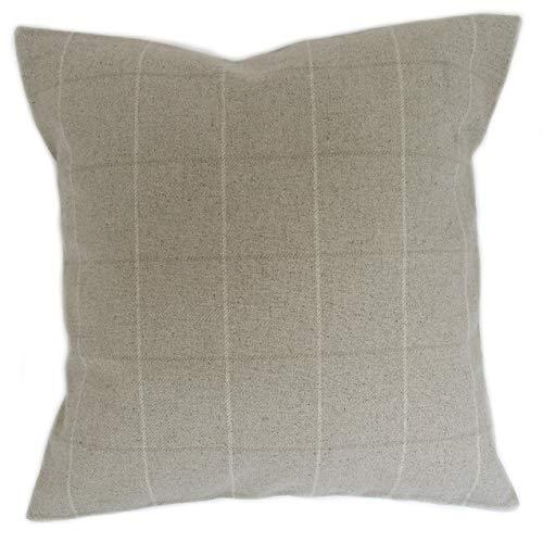 Honey Pot Cushions Funda de cojín hecha a mano de Laura Ashley Elmore de tela de lino a cuadros de 40 cm x 40 cm.