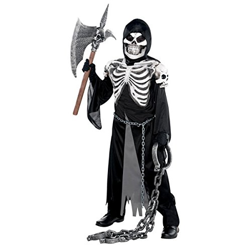 Amscan- Children Ghoulish Krypt Keeper Costume-Age 12-14 Years-1 Pc Deguisement, 10235565, Noir, 8-10 Ans
