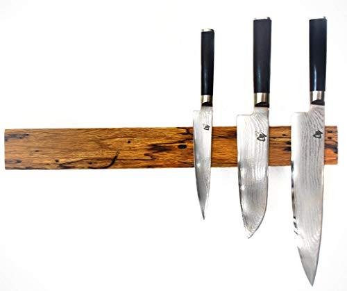 lacefix Magnetmesserleiste - extra Starke magnetische Messerleiste - Messerhalter Eiche rustikal
