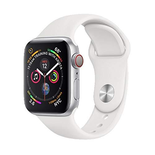 Apple Watch Series 4, 44 Mm, Alumínio Prata, Pulseira Esportiva Branca E Fecho Clássico, Mu6A2Bz/A