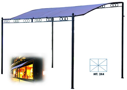Vette cdf00906Pavillon-Unterstützung aus Metall, beige