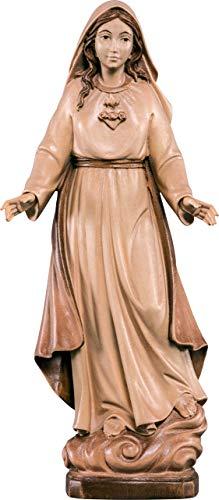 Ferrari & Arrighetti Imagen de la Virgen de los Dolores en Talla de Madera Encerada con 3 Tonos - Mide 30 cm - Demetz Deur