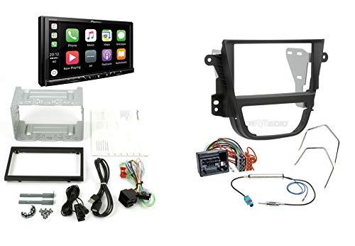 Pioneer Autoradio für Opel Mokka ab 12 mit Apple CarPlay Android Auto DAB+ Digitalradio inkl. Antennenadapter Radioadapterkabel Radioblende (schwarz) Rahmen und Zubehör