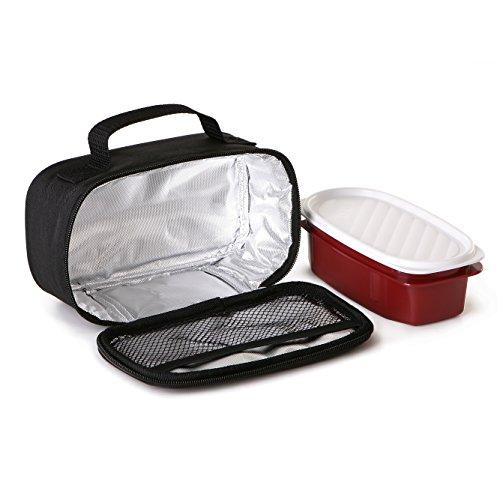 Tatay Urban Food Casual Mini - Sac Isotherme Repas, Capacité 1,5 L, Avec 1 Boîte Hermetique en Plastique de 0,5 L Sans BPA, Noire. Mesure 21,5 x 9 x 12 cm