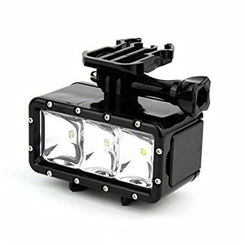 Soporte LED para luz de buceo subacuática impermeable para GoPro Hero 5 4 3+ 3 SJ4000