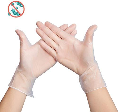 100st Disposable handschoenen Poeder-Free elastische PVC handschoenen Steriele Food Safe Grade Handschoenen Home Voeding Laboratorium Gebruik