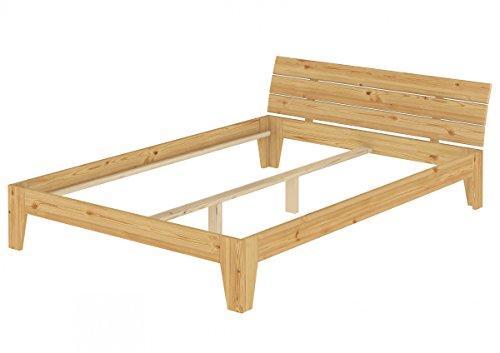 Erst-Holz® Doppelbett Bettgestell Massivholz Futonbett Überlänge 160x220 ohne Rollrost 60.62-16-220 oR