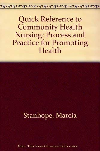 Download Quick Reference to Community Health Nursing 0801676592