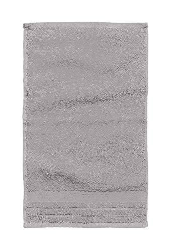 TOM TAILOR 0100111 Tissu éponge, Coton peigné, Teint en pièce, Silver, 30x50 cm