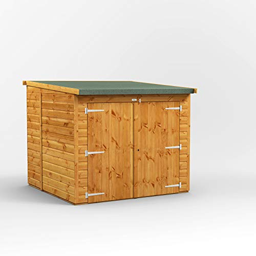POWER | 6x6 Pent Wooden Bike Shed | Shiplap Bicycle Sheds with Super Fast Delivery