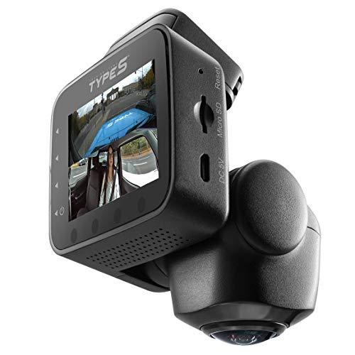 TravCa Dash 360. Dashcam 360 Grad Rundum Blick Vorne, Hinten & Seite. 1080p Full HD Autokamera App Steuerung mit 7 Ansichten 24/7 Aufnahme beim Fahren & Parken
