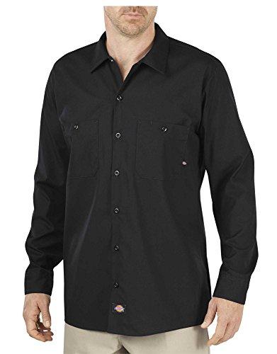 Dickies Camisa de Trabajo Manga Larga LL535BK Camisa Casual para Hombre, Color Black, XL