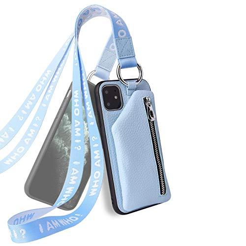 GUOSHUFANG Funda de teléfono móvil para iPhone, funda de piel sintética suave TPU [resistente a los golpes] cierre magnético, tarjetero, cartera con correa protectora para iPhone 6, orquídea ligera