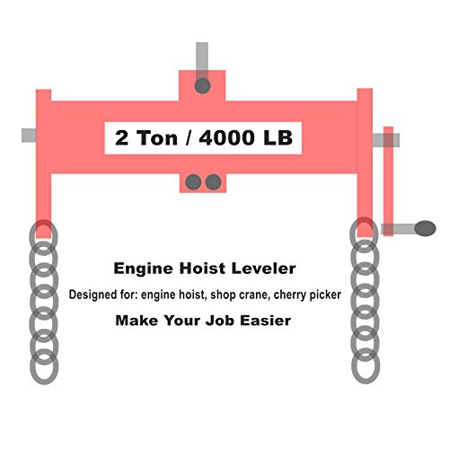Orion Motor Tech 2 Ton (4000lbs) Engine Hoist/Shop Crane/Cherry Picker Load Leveler with Chains