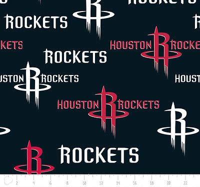 Fleece Houston Rockets NBA Basketball Sports Team Fleece Fabric Print by The Yard A609.18