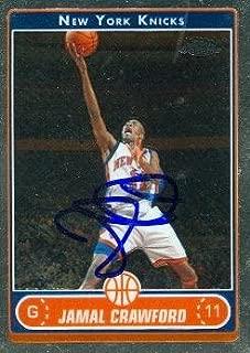 Autograph Warehouse 73855 Jamal Crawford Autographed Basketball Card New York Knicks 2007 Topps Chrome No 75