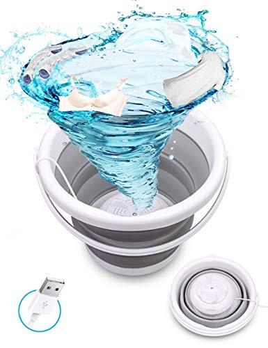 Mini lavadora, SHIKING® USB Tina de Lavandería Plegable Portátil, Lavadoras de Turbina Ultrasónicas Plegables para Ropa de Bebé/Calcetines/Ropa interior/Sujetador