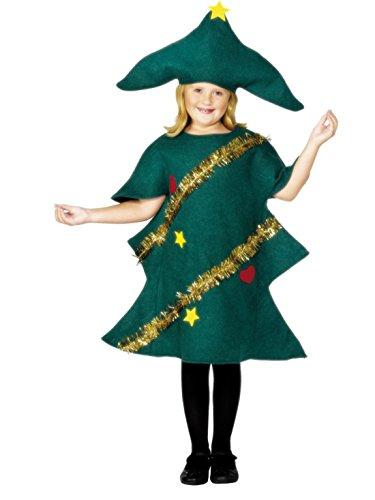 Carnevale Bud–Unisex Bambini Costume Natale Albero di Natale Abete albero, 104–152, 4–12anni, verde