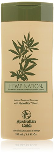 Australian Gold Hemp Nation Natural Bronzer tanning bed lotion 8.5 Oz