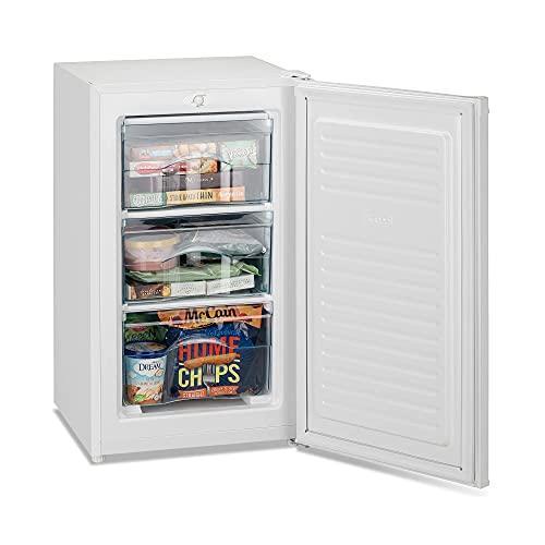 IceKing RZ109WE 48cm Under Counter Freezer | Freestanding Freezer White (Undercounter Freezer)