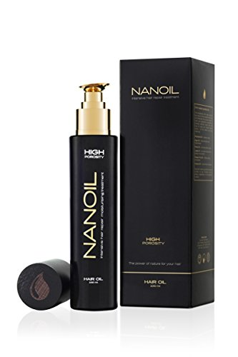 Nanoil, High Porosity Control Hair Repair Oil To Moisturize and Prevent Dryness and Frizz, Contains 6 Natural Oils (Almond, Argan, Evening Primrose, Avocado, Maracuja and Cotton Seed), 100 Milliliters
