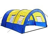 TecTake 800588 - Tienda de Campaña Daniela para 6 Personas, Tienda Túnel, Camping, Acampada -...