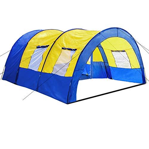 TecTake 800588 - Tienda de Campaña Daniela para 6 Personas, Tienda Túnel, Camping, Acampada - Varios Modelos (Type 1 | No. 402914)