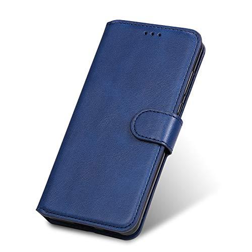 TANYO Funda Leather Folio Adecuado para Xiaomi Redmi Note 10 Pro, PU Premium Cuero Fundas, Ranuras para Tarjetas, Cierre Magnético, Stand Function Flip Wallet Case Cover. Azul