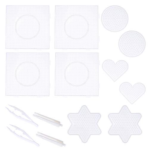 SUPVOX 14 piezas placas de cuentas de fusibles plantillas de cuentas de plástico para niños diy craft beads 5mm