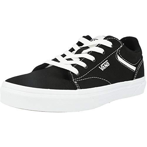 Vans Seldan, Sneaker Unisex Adulto, Lienzo Negro Blanco 187, 39 EU