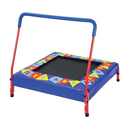LY Trampolines 36-Inch voor kinderen met handvat Bar | Verdikte stalen buis en antislip mute mat| Ondersteunt tot 330 Ponden