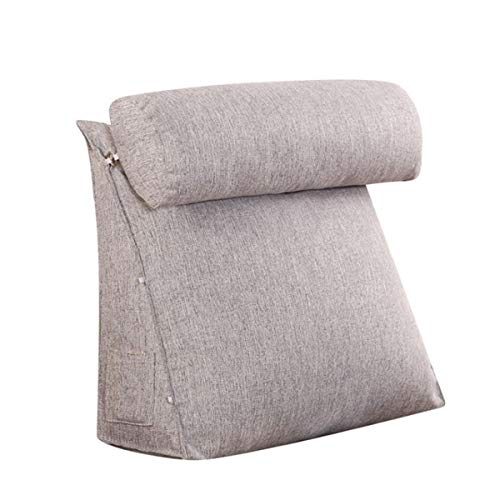 Good Helper for Women, Triangle Backrest Sofa Cushion Long Pillow Large Reading Backrest for Family Easy to Cleaning - Lumbar,Back, Neck to Support Bed Back Rest Seat Cushion Pillow Best Gift