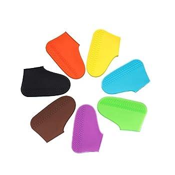 LESOVI Shoe Covers Silicone Waterproof - Men/Women Covers for Shoes - Waterproof Shoe Covers - Home/Carpet/Reusable/Outdoor/Walking/Boot -Reusable Non Slip Grip -Durable