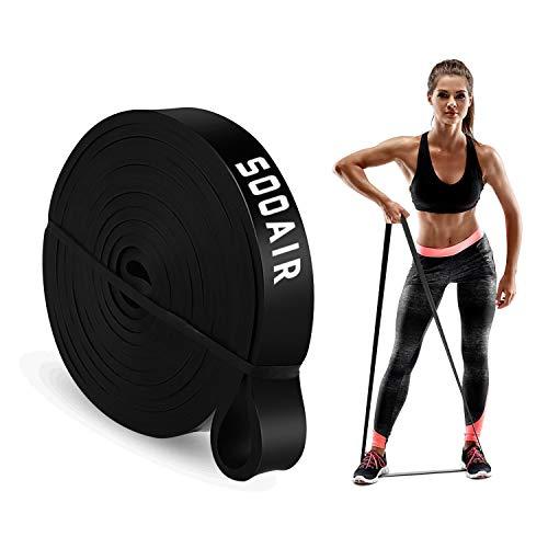Sooair Widerstandsbänder, Fitnessbänder für Krafttraining/Fitness, Klimmzugband Resistance Bands für Muskelaufbau Pull-Up Crossfit Calisthenics (Schwarz, Mitte/ 11-30 KG)