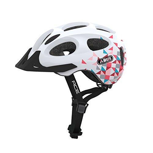 ABUS Youn-I ACE Stadthelm - Fahrradhelm für den Alltag - für Damen und Herren - 72619 - Weiß mit Muster, Größe M