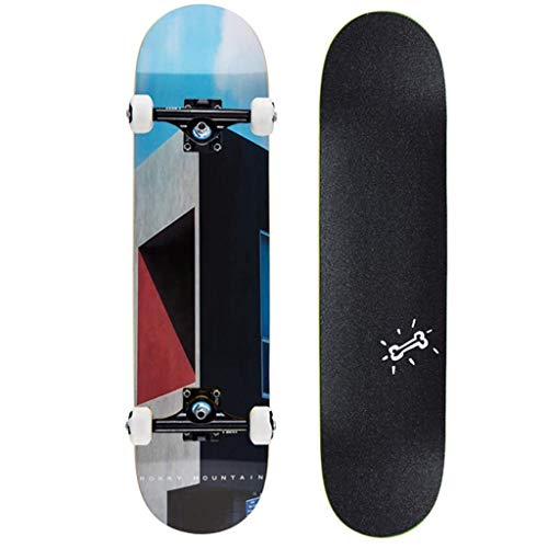 Affordable ZAIHW Skateboard Complete 31 Inches Double Kick Trick Skateboards Cruiser Penny Kids Begi...