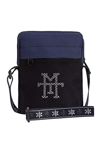 Pocket Pusher Bag - schoudertas waterafstotend, schoudertas, borstzak met kijkvenster, kleine borstzak crossbody reistas met verstelbare schouderriem voor heren en dames, navy (blauw) - PPB