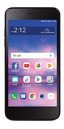 Tracfone Carrier-Locked LG Rebel 4 4G LTE Prepaid Smartphone - Black - 16GB - Sim Card Included - CDMA (Renewed)