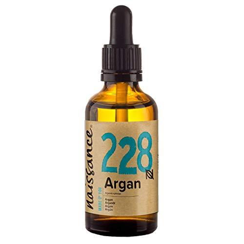 Naissance Aceite Vegetal de Argán de Marruecos n. º 228 – 50ml - Puro, natural, vegano, sin hexano y no OGM - Hidratación natural para el rostro, el cabello, la barba y las cutículas.