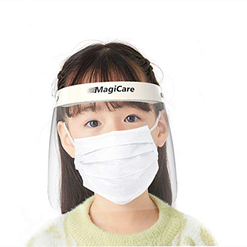 Reusable Kids Full Face Shield, One Size Fits All, Anti-Fog, Ultra-Clear, Adjustable Strap, Extra Large Splash Guard, US Stock, Fast Delivery (50)