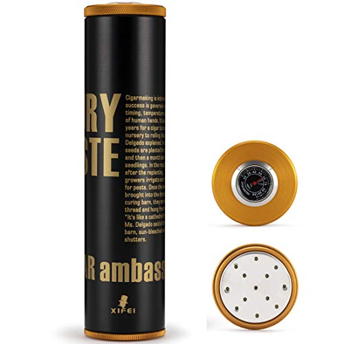 XIFEI Travel Cigar Case Humidor Jar - Cigar Hygrometer humidifier-...