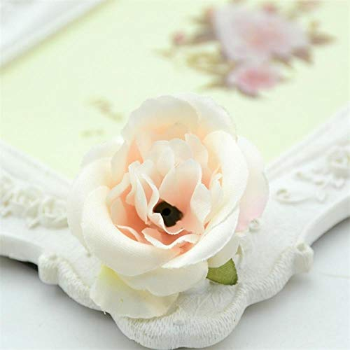 AOA 10pcs/ Mini Artificial Silk Roses Flower Heads For Home Wedding Party Decoration Fake Flowers,Champange