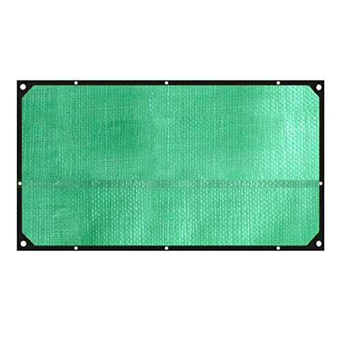 ZHUAN Tarpaulin - Protector Solar Resistente al Agua Resistente al Mal Tiempo con Ojales de Metal utilizados como Carpa para Muebles de Exterior de pabellón de jardín, 13 tamaños (Color: Verde, Ta