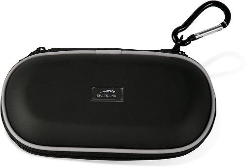 Speedlink Carry Case Tasche zur Aufbewahrung Der PSP Slim/Lite/2000/3000 (Hartschale mit Innenfächern und Reißverschluss) schwarz