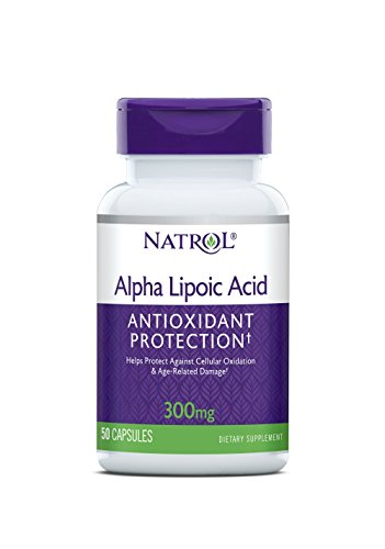 Natrol Alpha Lipoic Acid 300mg Capsules, 50 Count (Pack of 3)