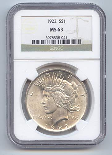 1922 Peace Dollar MS-63 PCGS