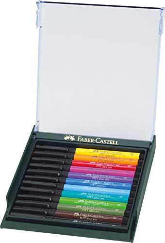 Faber-Castell 10104484 Pitt Artist Lot de 12 Pinceau Stylo B Assorties