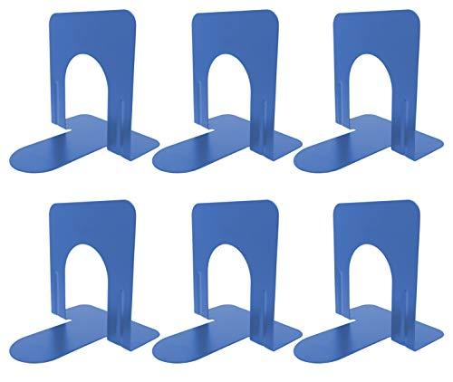Clipco - Juego de 6 tapas para libros (antideslizantes, 12,7 cm), color azul